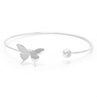 Armband - cuff sweet butterfly silver