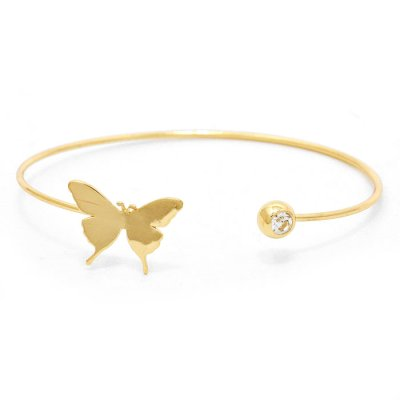 Armband - cuff sweet butterfly gold