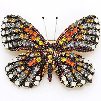 Brosch - Butterfly dark orange