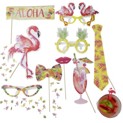 Photobooth props kit - Flamingo