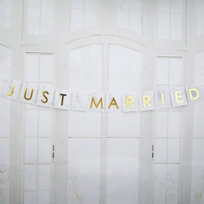 Bilvimpel - Just married Marmor