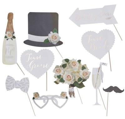 Photobooth props kit - Roses and lace