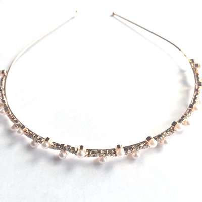 Diadem - Rose gold pearl wave