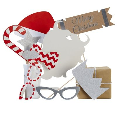 Photobooth props kit - Merry christmas