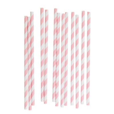 Straws - Stripes rosa